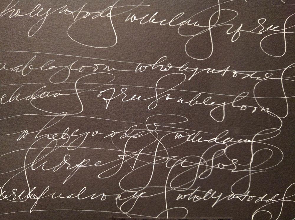 "Handwriting sample substituting an alternate ""s"", Noelle Gulden"