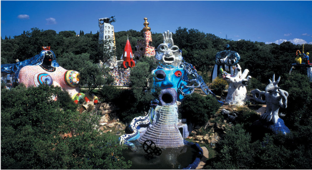 Niki de Saint Phalle's esoteric sculpture garden based on the Tarot cards