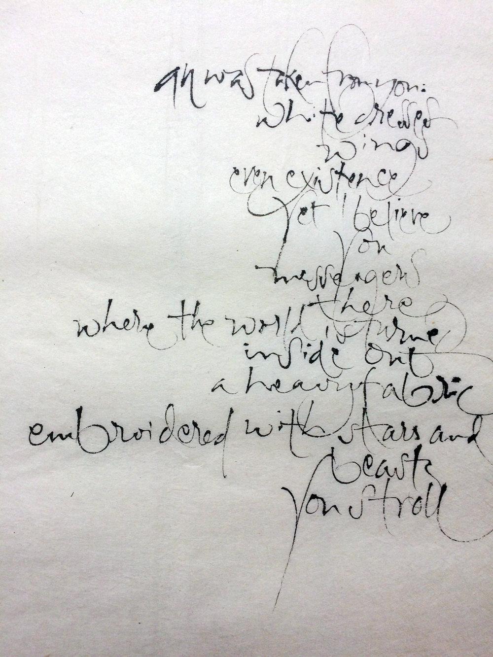 On Angels, Czeslaw Milosz, L Doctor Sketchbook