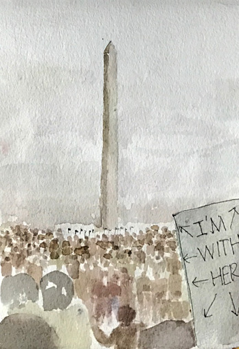 L Doctor Sketchbook: at the Washington Monument