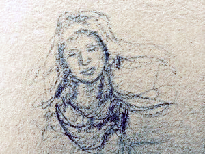 Mary/ Orvieto Cathedral,  L Doctor sketchbook