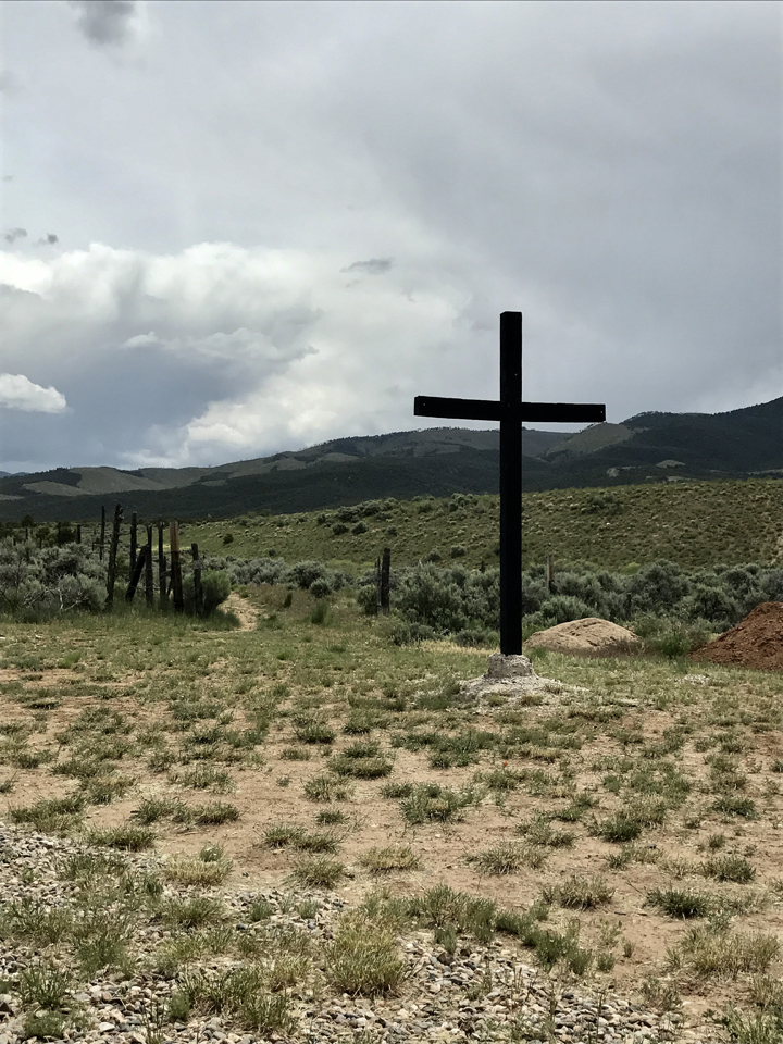 Sacred land of the Pueblo Indians borders the Mabel Dodge Luhan Retreat, June 2017