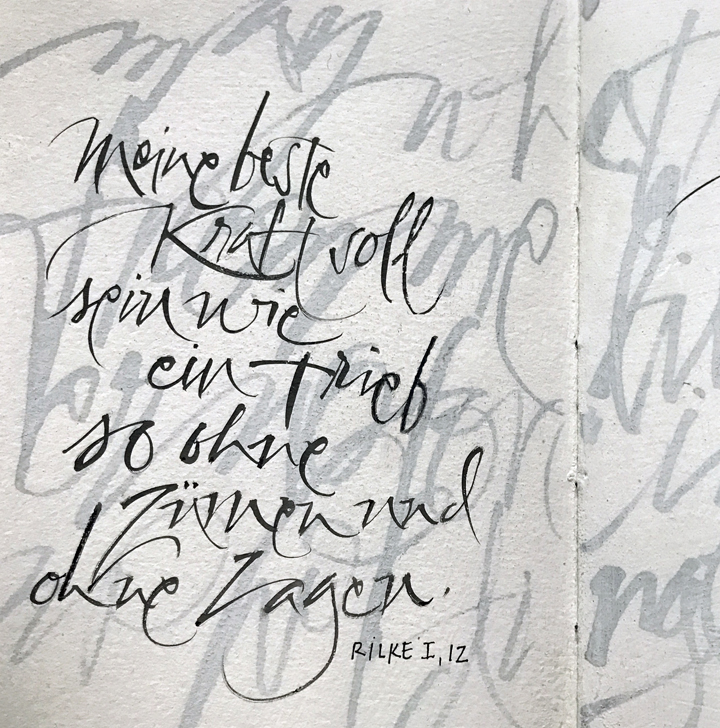 May what I do flow from me like a river, no forcing and no holding back... –Rilke Sketchbook, L Doctor