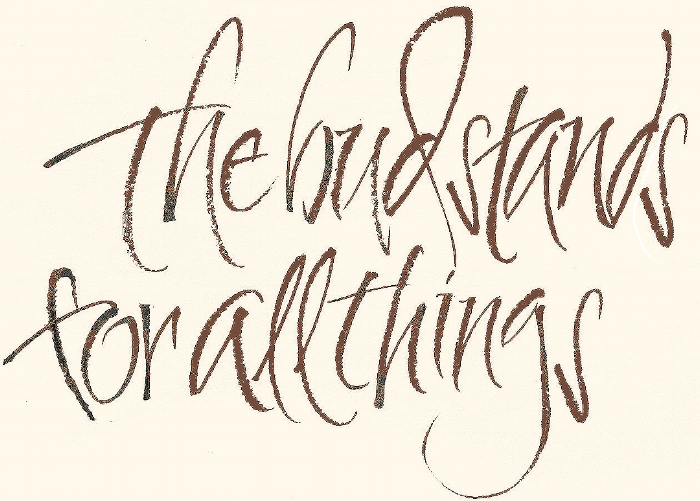 Brush lettering, L Doctor