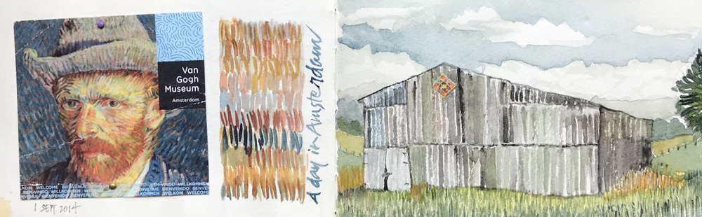 Kentucky barn inspired by Van Gogh  –L Doctor Sketchbook