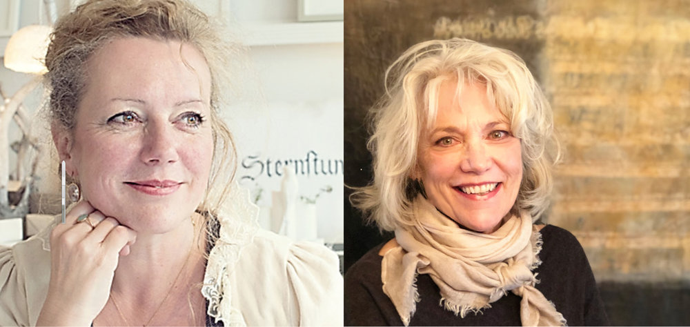 Sabine Danielzig (left) and Laurie Doctor (right) bring their collaborative teaching to Taos
