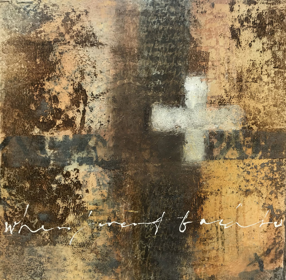 The Return,  –painting and calligraphy by Laurie Doctor
