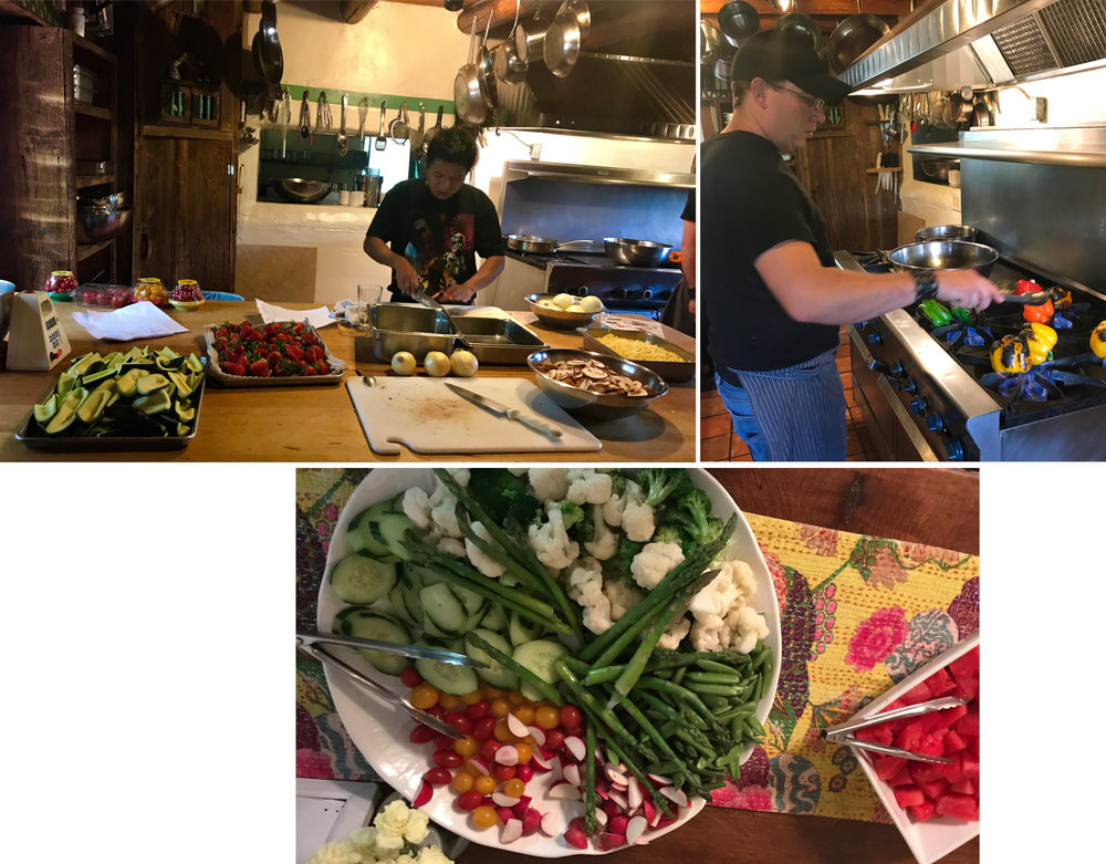Fabulous food– here are some pictures of the kitchen at our retreat
