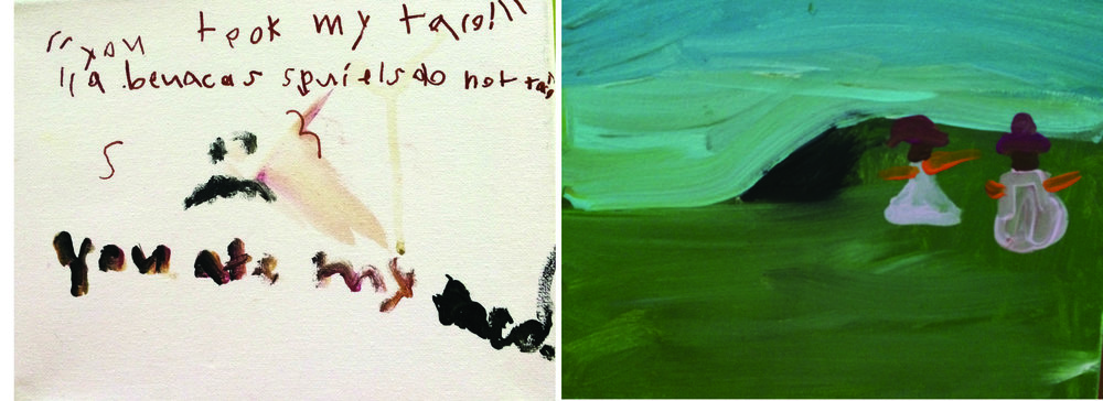 You took my taco (left) and Seaside (right)  by Amelia Hassett, age 8