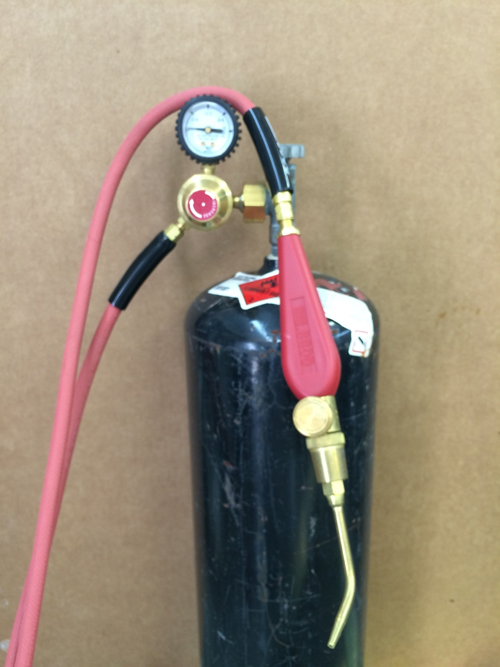 New acetylene torch and tank