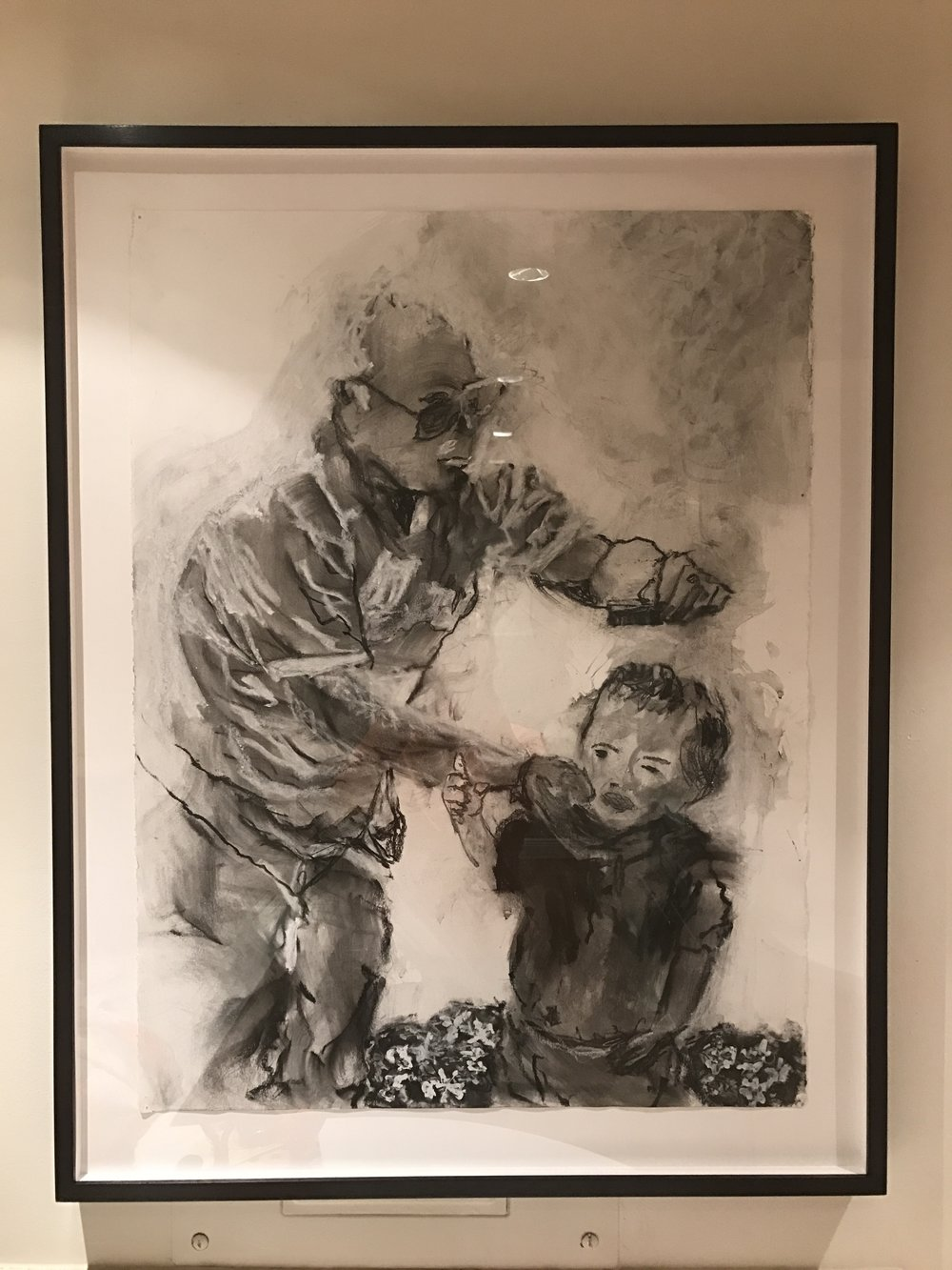 """""""comb here"""" charcoal 2015"""