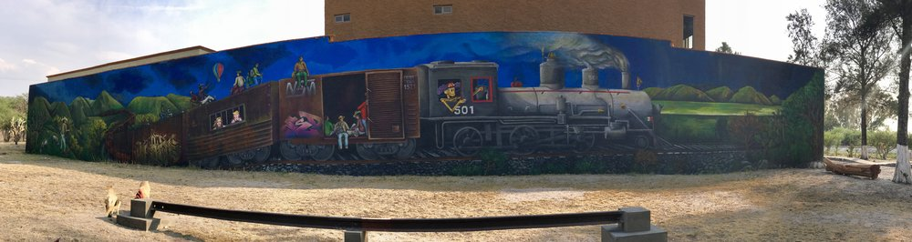 Panorama view of mural