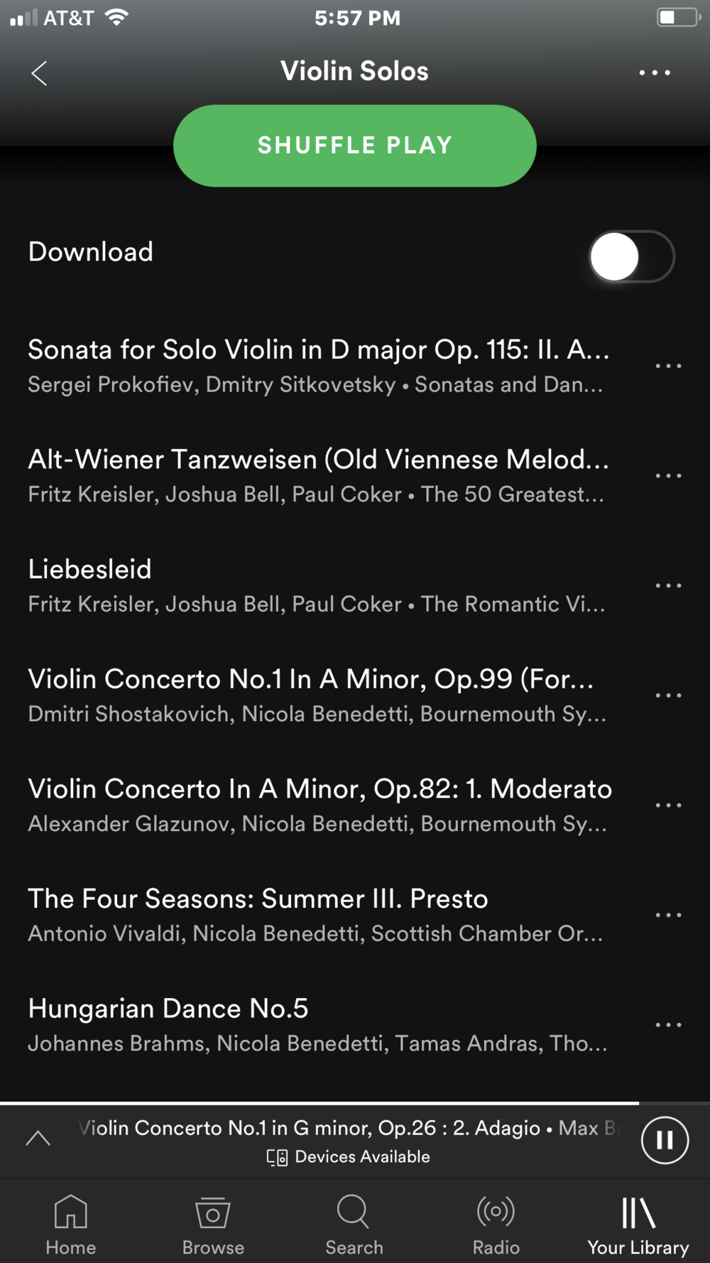 Spotify violin solos