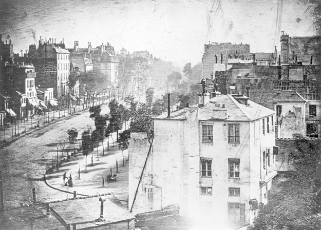 Louis Daguerre Boulevard Du Temple, 1838.