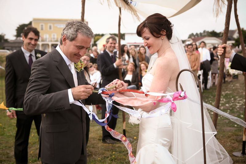 Ribbon Tying Ceremony, photo by Robert Stewart of Artseed
