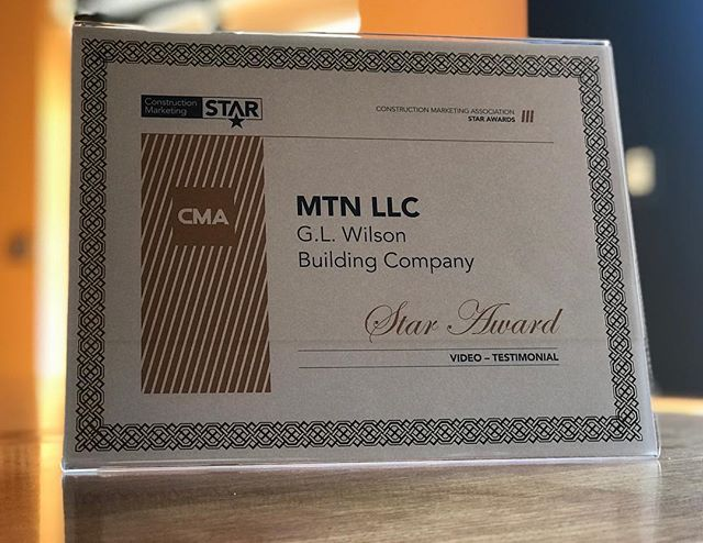 We're excited and grateful to receive the Construction Marketing Association's Star Award for our work with G. L. Wilson Building Company in Statesville, NC! #videoproduction #videomarketing #b2bmarketing #constructionmarketing #construction #award #digitalmarketing