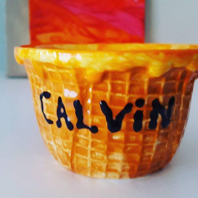 Calvin's ceramic bowl.