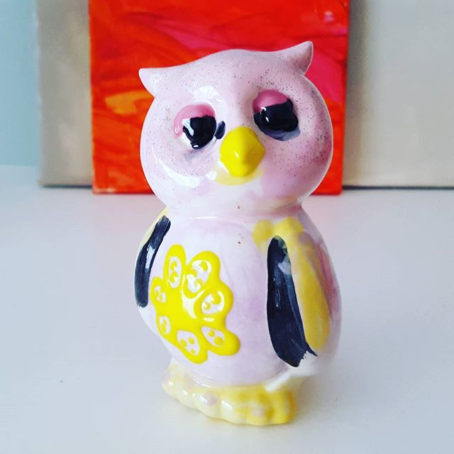 The owl Clara painted.
