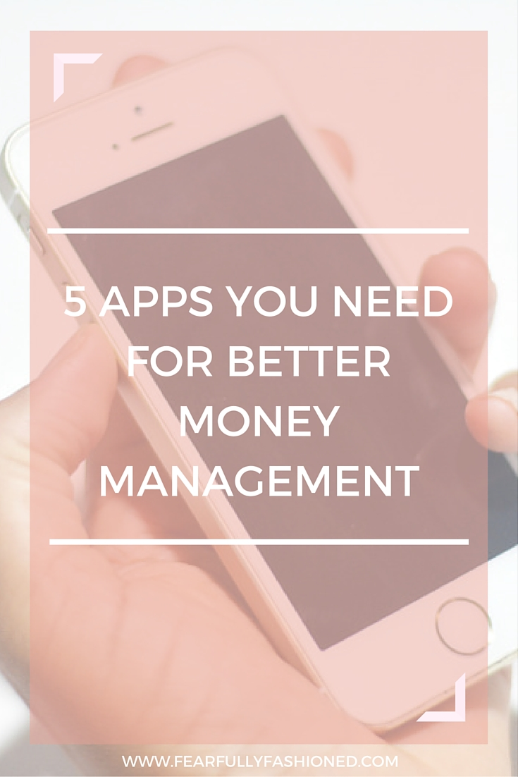 5 Apps You Need For Better Money Management | Want to learn how to better manage and streamline your finances? Click this pin or save it for later to discover 5 apps to help you better manage your money.