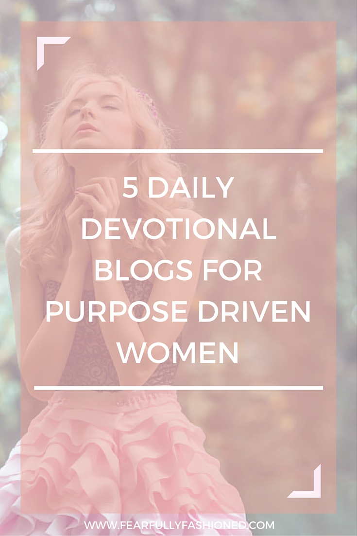 5 Daily Devotional Blogs for Purpose Driven Women | Looking to spice up your quiet time routine with daily devotionals? Here are 5 daily devotional blogs that I read to switch up my quiet time routine. Click here to read or pin to save it to your board for later.