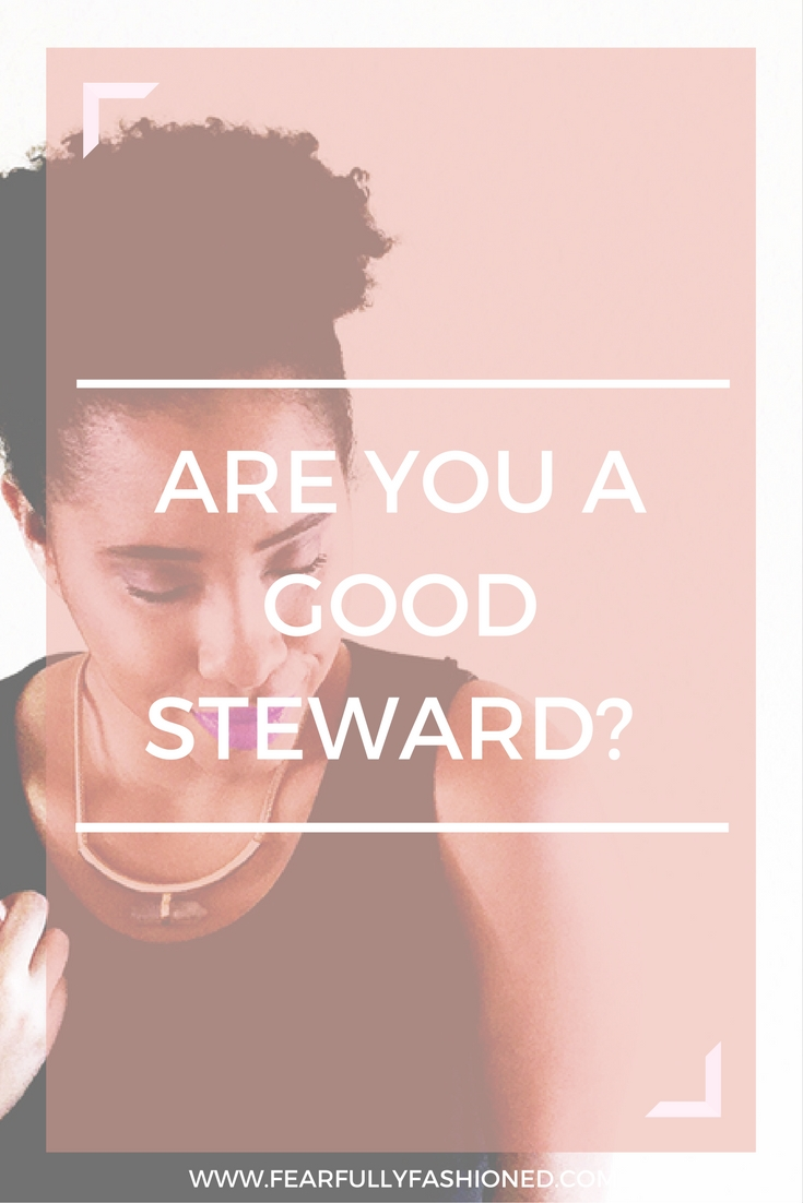 Are You A Good Steward? | Fearfully Fashioned -- At the end of this life, we will all be called to give an account of how we lived. Be a good steward by making the most out of the time, money, resources, & gifts that God has given you. Click to read now or pin to save for later! #faith #selfhelp #FearfullyFashioned