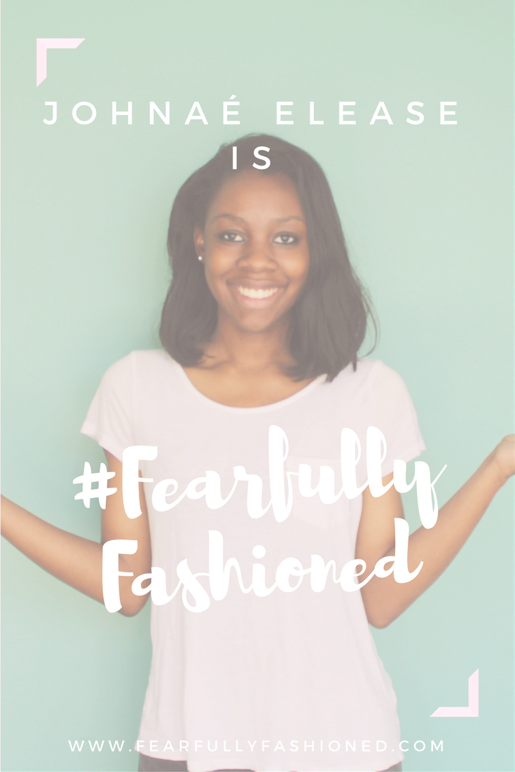 Johnaé Elease is #Fearfully Fashioned | Fearfully Fashioned -- Johnaé Elease is #FearfullyFashioned. She is the founder and editor-in-chief of online community, The Happy Joy. As a servant, singer, and writer, she uses her gifts and talents to win souls for the Kingdom. Taking the leap out of comfort zone, Johnaé plunged herself into her God-given purpose full-time. Click to read more of Johnaé's story or pin to save for later. #purposedrivenwomen #IAMFearfullyFashioned