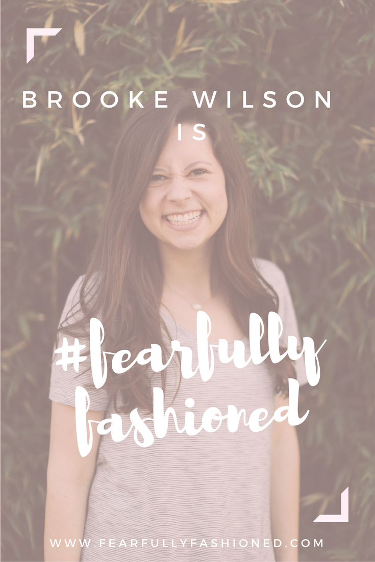 Brooke Wilson is #FearfullyFashioned | Fearfully Fashioned —  Brooke's ministry, Living Unshackled, was birthed from several years of battling comparison, insecurity, anxiety, and more. Christ continued to show her that He has already broken her chains and purchased her freedom on the cross. Click here to read more of Brooke's story, or pin it to save for later! #IAMFearfullyFashioned