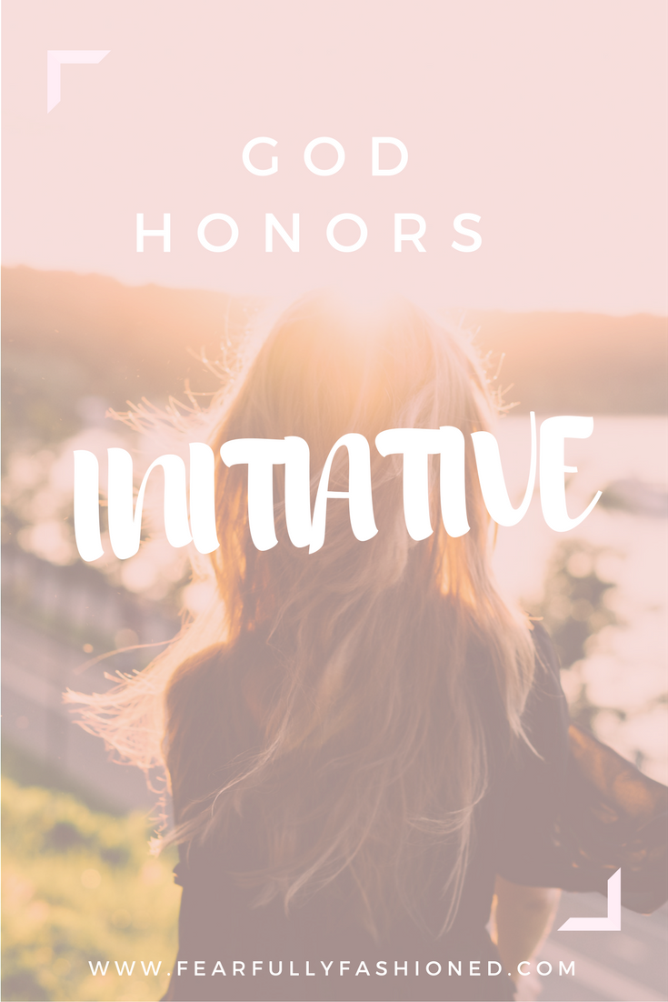 God Honors Initiative | Fearfully Fashioned —Do you feel like everything must be perfect before you step out & pursue your God-given goals or purpose? Perfection isn't a pre-requisite for the work that He's already qualified you to do. Take the first steps & trust that God honors your initiative. #faith #selfhelp #FearfullyFashioned