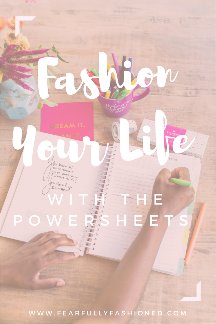 Fashion Your Life with the PowerSheets | Fearfully Fashioned -- Have you ever felt like you are busy but you aren't making progress on your goals? That's how I felt when I discovered the PowerSheets. I was busy and striving, trying to hold everything together. The PowerSheets have helped me to exchange busyness and striving for purpose-driven living. Click here to learn how you can fashion a purpose-driven life with the PowerSheets! Click to read now or pin to save for later! #PowerSheets
