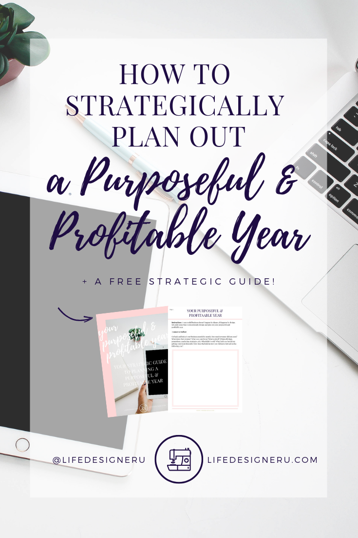 How to Strategically Plan Out a Purposeful and Profitable Year | Life Designer University -- Have you planned out your next year in business? Don't save your planning to the last minute. Lean how to strategically plan a purposeful and profitable 2019. Click here to read now or pin to save for later. | business plan, business tips, strategic planning, goal setting, 2019 goal setting, S.M.A.R.T. goals, personal development tips, christian business, christian entrepreneurs, christian entrepreneurship, life coach for women, christian life coach, Life Designer University