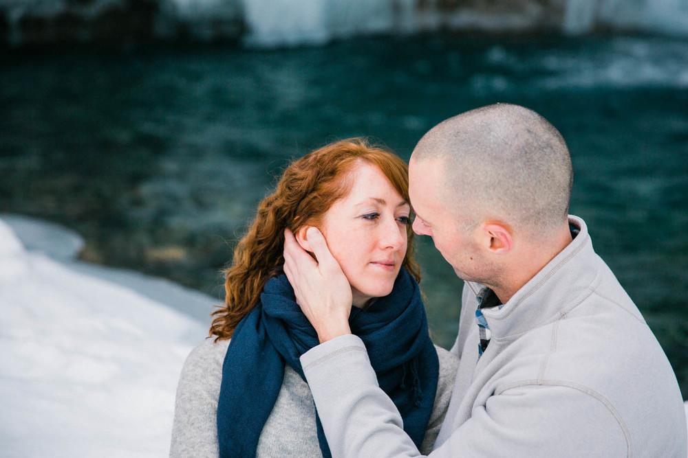 Johnston Canyon Banff Engagement Photography
