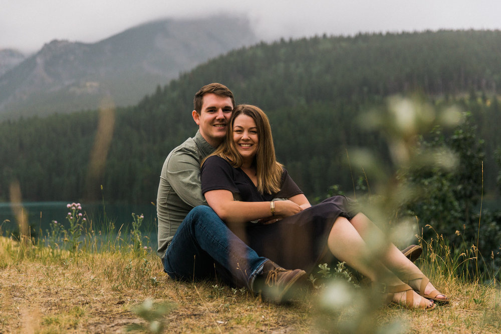 Camping on Vacation Engagement Photographer Jennie Guenard Photography