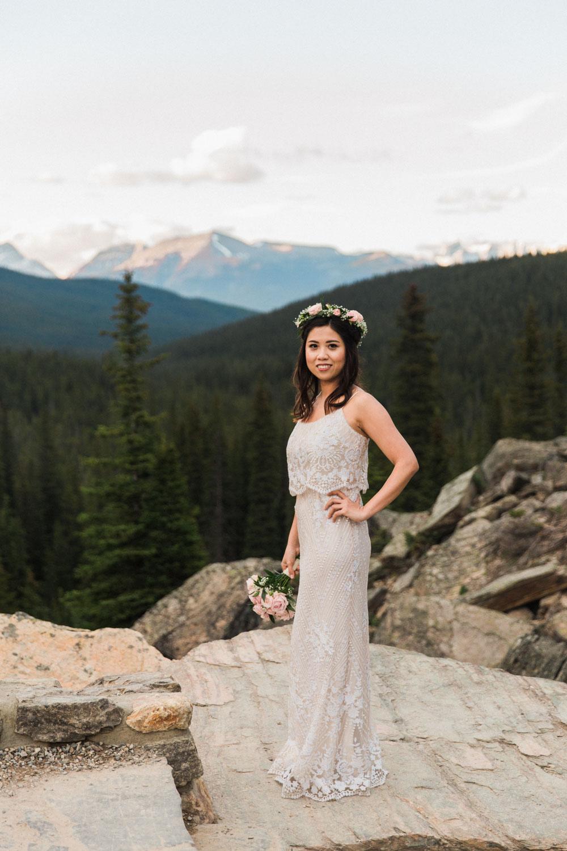 Moraine Lake, Lake Louise Wedding Photographer Jennie Guenard Photography
