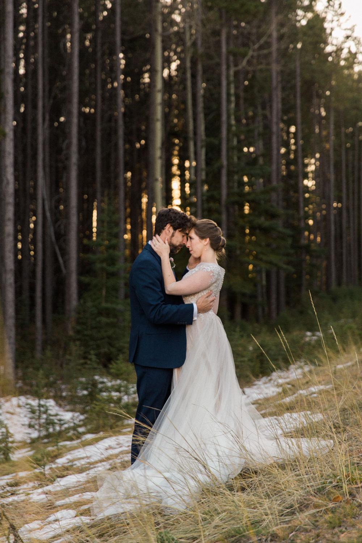 Banff Canmore Calgary Autumn Mountain Wedding Photographer Jennie Guenard Photography