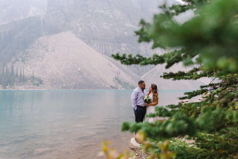 Lake Louise Mountain Engagement Photographer Moraine Lake Wedding Jennie Guenard Photography-6.jpg