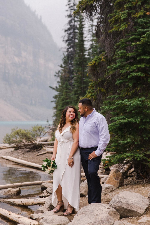 Lake Louise Mountain Engagement Photographer Moraine Lake Wedding Jennie Guenard Photography-3.jpg
