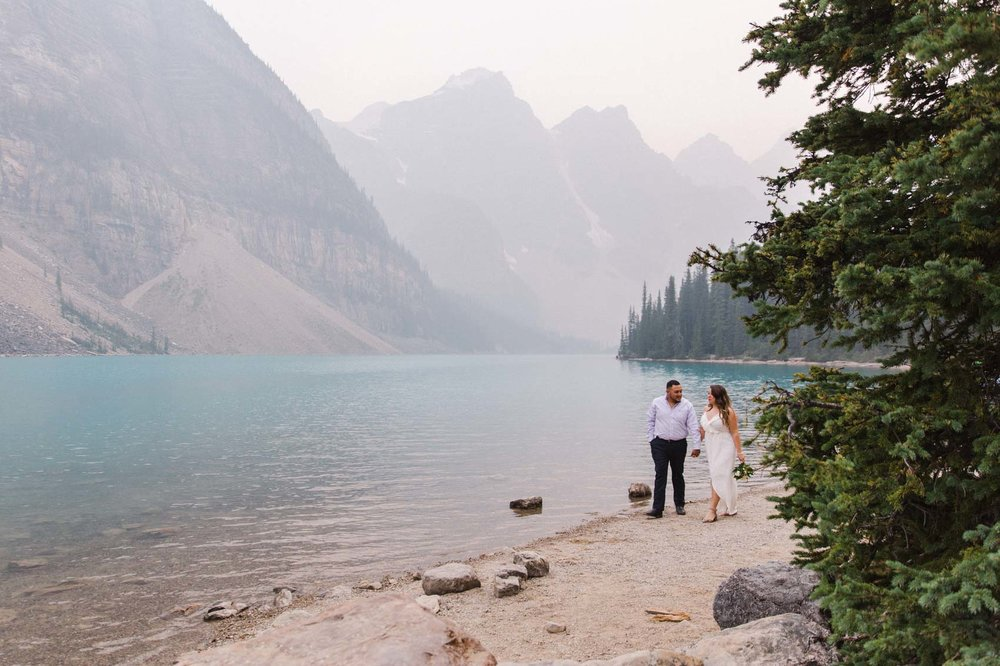 Lake Louise Mountain Engagement Photographer Moraine Lake Wedding Jennie Guenard Photography-16.jpg