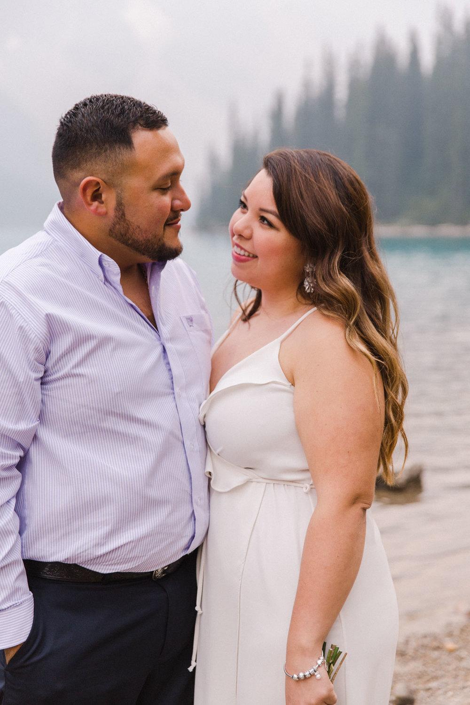 Lake Louise Mountain Engagement Photographer Moraine Lake Wedding Jennie Guenard Photography-15.jpg