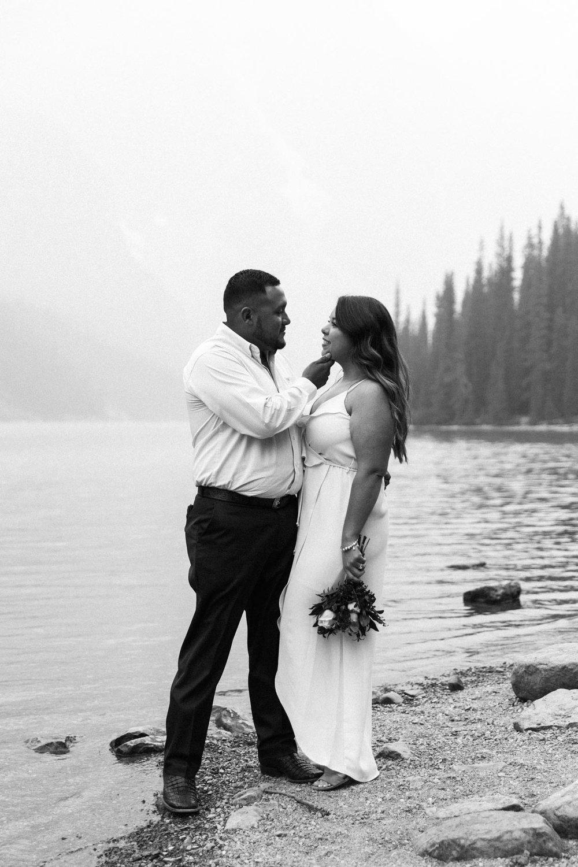 Lake Louise Mountain Engagement Photographer Moraine Lake Wedding Jennie Guenard Photography-12.jpg