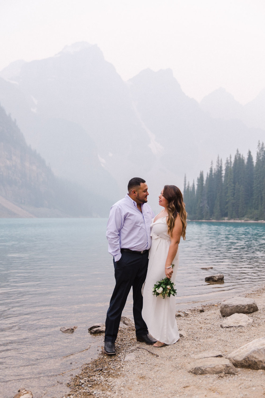 Lake Louise Mountain Engagement Photographer Moraine Lake Wedding Jennie Guenard Photography-11.jpg