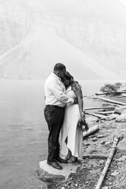 Lake Louise Mountain Engagement Photographer Moraine Lake Wedding Jennie Guenard Photography-8.jpg