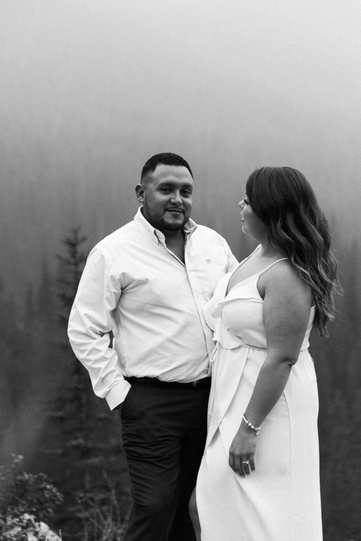 Lake Louise Mountain Engagement Photographer Moraine Lake Wedding Jennie Guenard Photography-20.jpg