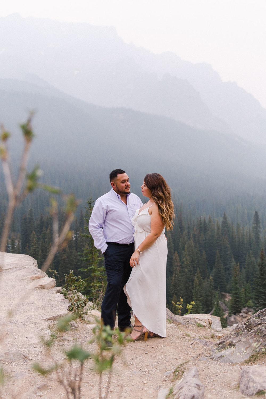 Lake Louise Mountain Engagement Photographer Moraine Lake Wedding Jennie Guenard Photography-19.jpg