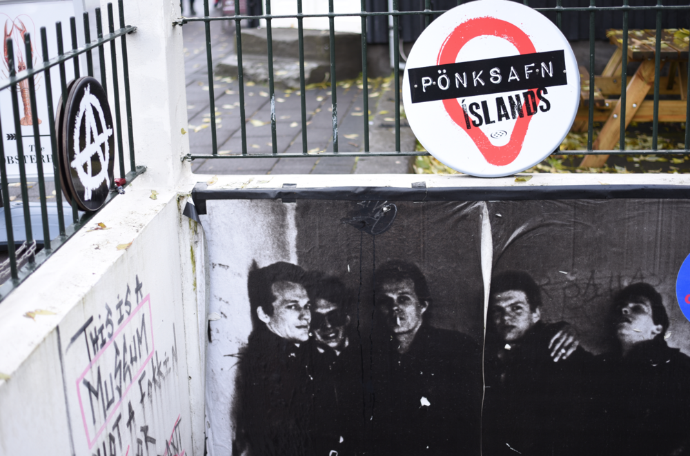 The Icelandic Punk Museum (an offbeat underground museum featuring the history of Icelandic punk in repurposed bathroom stalls)
