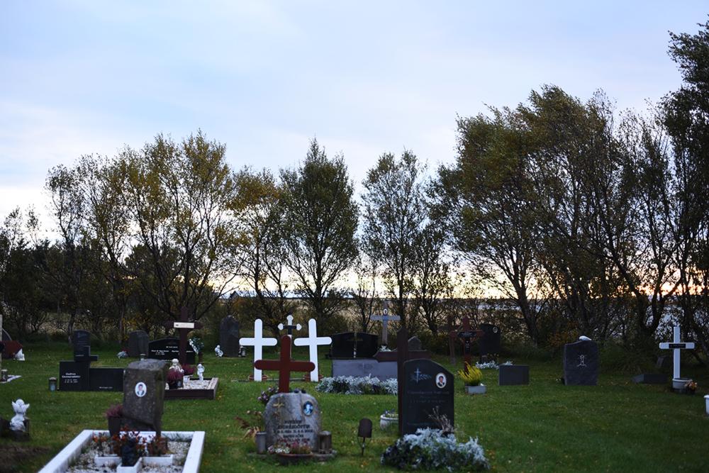 Cemetery in Selfoss.