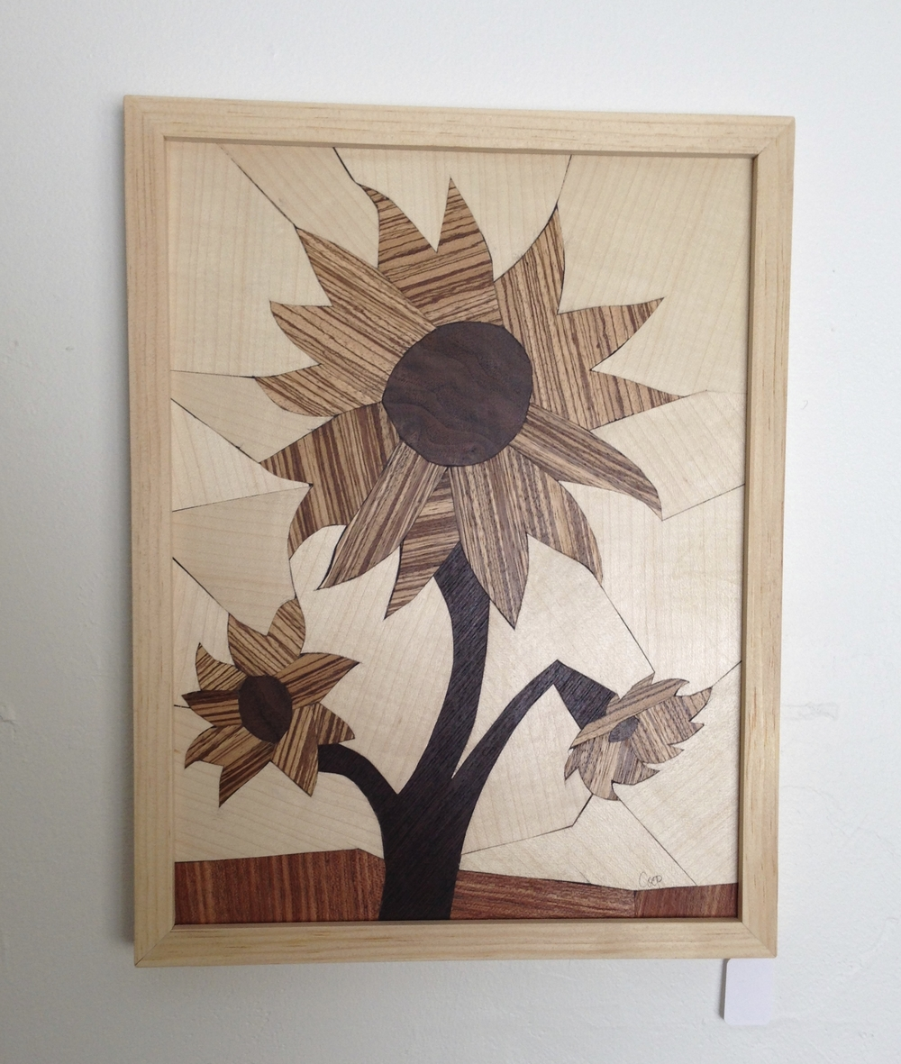 Flower Series - Wood Mosaics - by Karen Cooprider