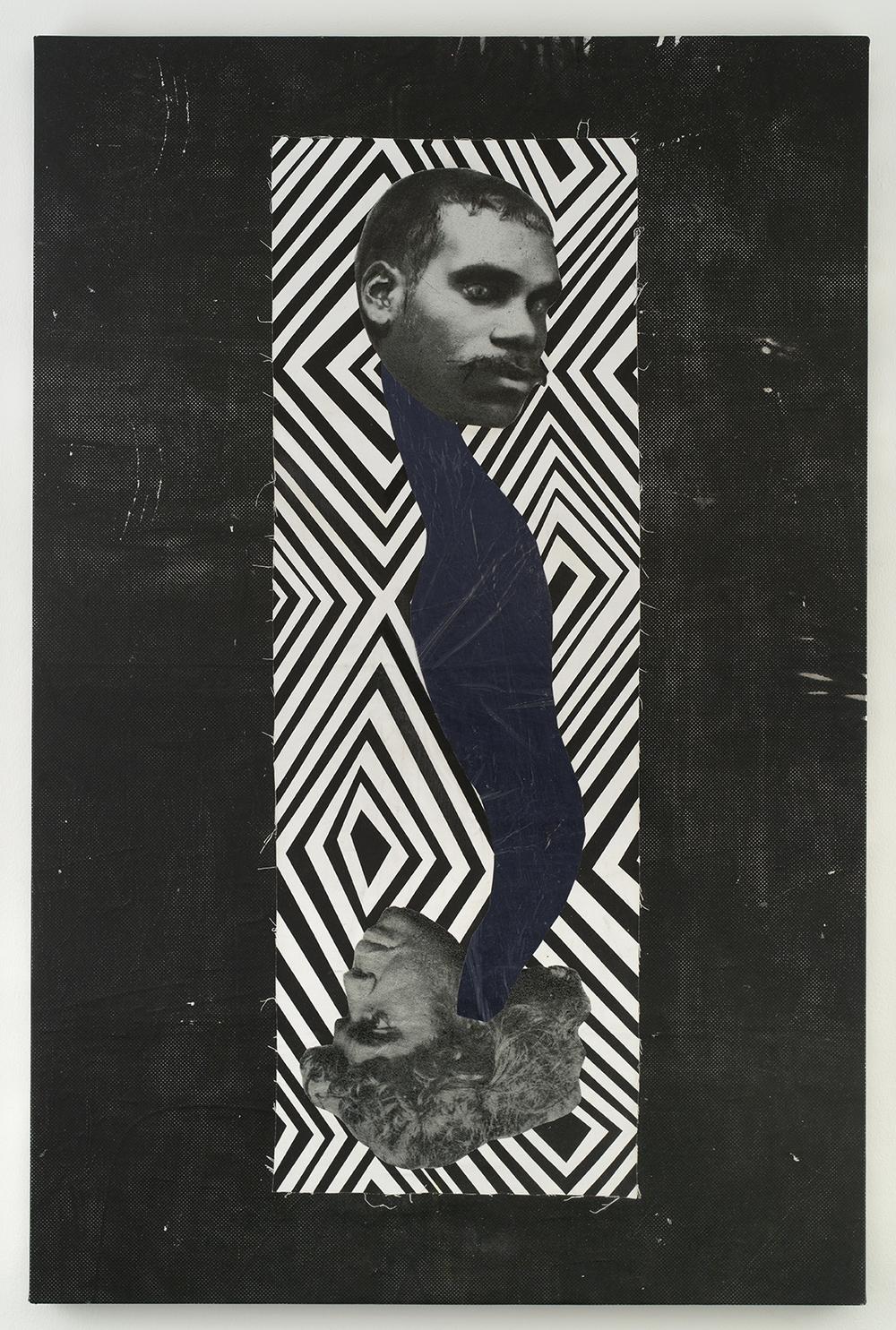 The Snake,  2016  Linen, cotton, acrylic ink, foil  167 x 110 x 5 cm