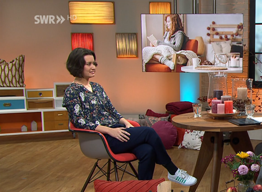 """Mein1. Live-Auftritt im Fernsehenam 22.10.2018 - """"Kaffee oder Tee"""" - Sendung:Mit Accessoires und Farben ein gemütliches Wohnambiente schaffen"""