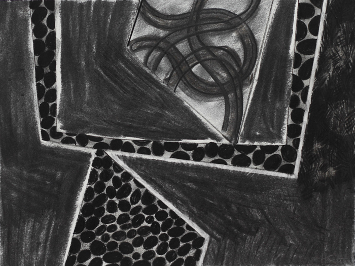 archive of an edge II, 2014 / charcoal on paper / 48cm x 41cm