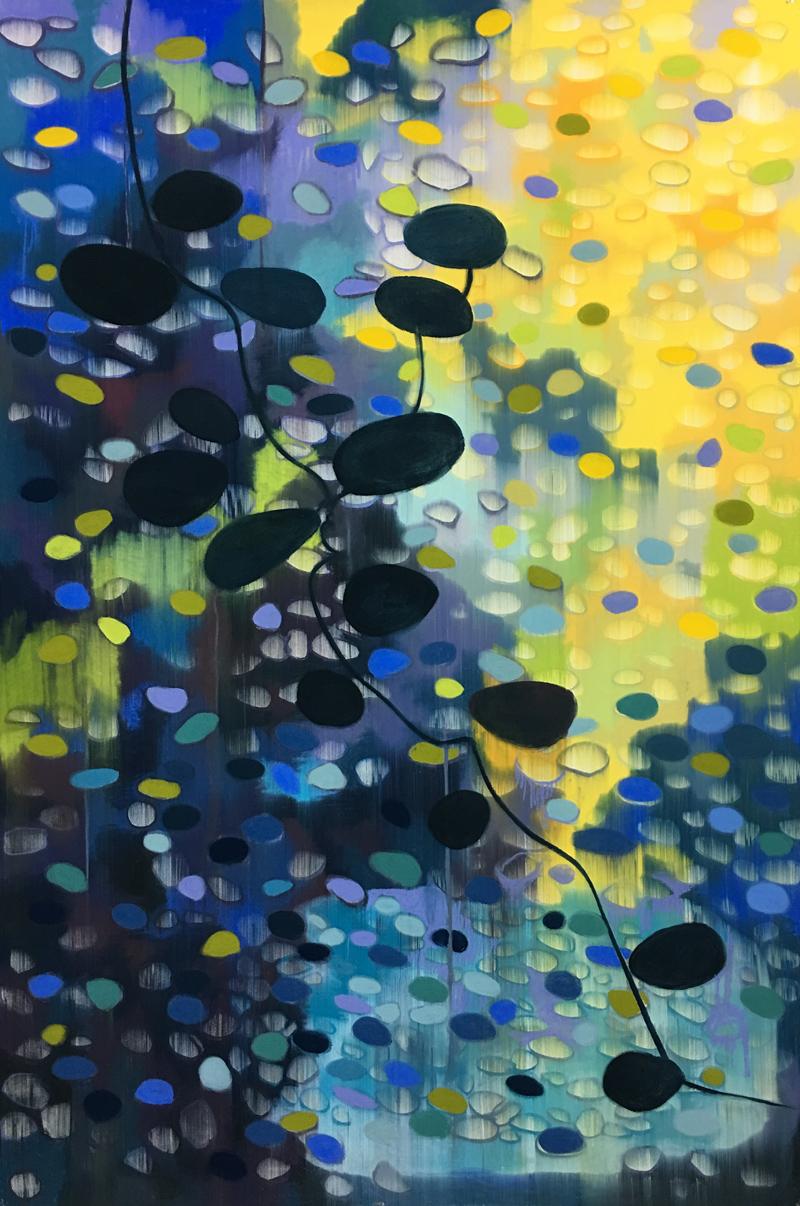 Hushhush / Pastel on paper / 152cm x 102cm / 2018